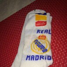 Coleccionismo deportivo: REAL MADRID - CALCETINES MARBE - ALGODON - A ESTRENAR - SANTO DOMINGO DE LA CALZADA ( LA RIOJA ). Lote 196667538