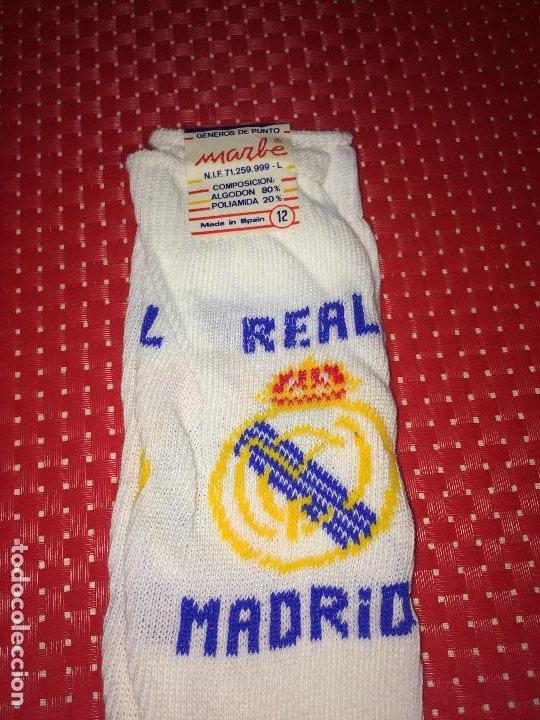 Coleccionismo deportivo: REAL MADRID - CALCETINES MARBE - ALGODON - A ESTRENAR - SANTO DOMINGO DE LA CALZADA ( La Rioja ) - Foto 3 - 196667538
