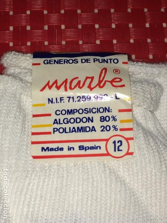 Coleccionismo deportivo: REAL MADRID - CALCETINES MARBE - ALGODON - A ESTRENAR - SANTO DOMINGO DE LA CALZADA ( La Rioja ) - Foto 2 - 196667538