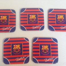 Coleccionismo deportivo: 5 POSAVASOS DE FC BAECELONA 9,5 CTM X 9,5 CTM. Lote 197589962