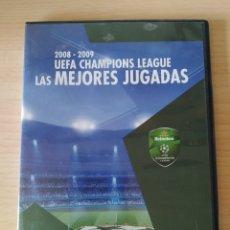 Coleccionismo deportivo: DVD UEFA CHAMPIONS LEAGUE. 2008-2009. LAS MEJORES JUGADAS. Lote 197904400