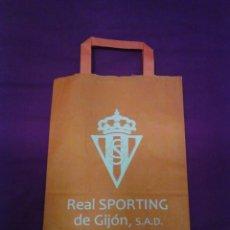 Coleccionismo deportivo: BOLSA TIENDA OFICIAL REAL SPORTING DE GIJÓN.. Lote 199212155
