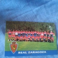 Coleccionismo deportivo: TARGETA CARD CROMO REAL ZARAGOZA TEMPORADA 1998 1999. Lote 199237453