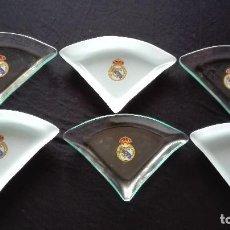 Coleccionismo deportivo: BANDEJAS APERITIVO REAL MADRID. Lote 199809005