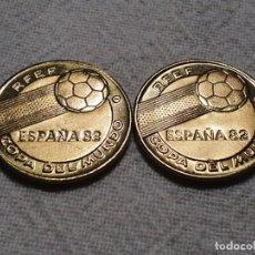 Coleccionismo deportivo: 2 MEDALLAS MUNDIAL '82 - CONMEMORATIVAS ITALIA 1938 Y ARGENTINA 1978 - SC/FDC. Lote 200863820