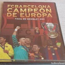 Coleccionismo deportivo: FC BARCELONA / CAMPEÓN DE EUROPA / FINAL DE WEMBLEY 2011 / DVD PRECINTADO.. Lote 202421771