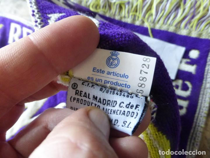 Coleccionismo deportivo: BUFANDA REAL MADRID LIGA 96 - 97 CAMPEÓN DE LIGA , 1996 - 1997 . OFICIAL Y SIN USO. - Foto 3 - 202889536
