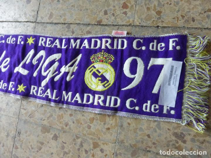BUFANDA REAL MADRID LIGA 96 - 97 CAMPEÓN DE LIGA , 1996 - 1997 . OFICIAL Y SIN USO. (Coleccionismo Deportivo - Merchandising y Mascotas - Futbol)