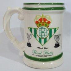 Coleccionismo deportivo: JARRA DEL REAL BETIS, MODELO ESCASO Y RARO, PRODUCTO OFICIAL TICADE. Lote 204336772