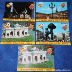 Coleccionismo deportivo: LOTE DE 5 POSTALES - MADRID - ESPAÑA 82 - NARANJITO. Lote 205444026