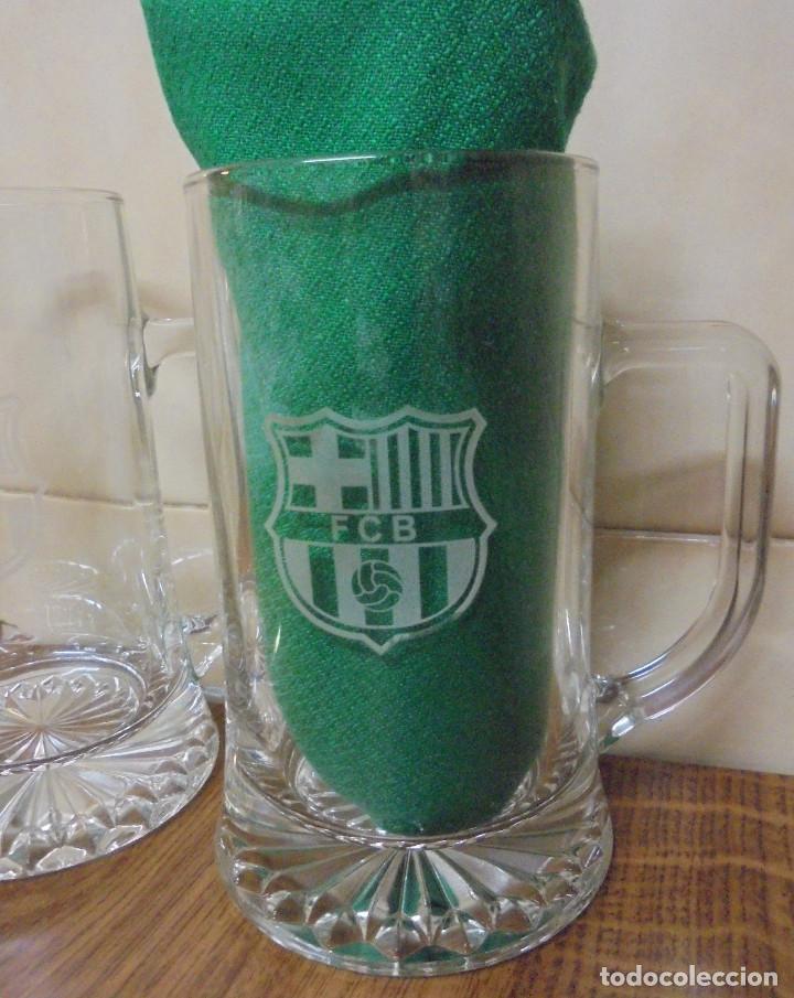 Coleccionismo deportivo: DOS JARRAS FCB. BARÇA. ESCUDO SERIGRAFIADO. - Foto 3 - 205561030