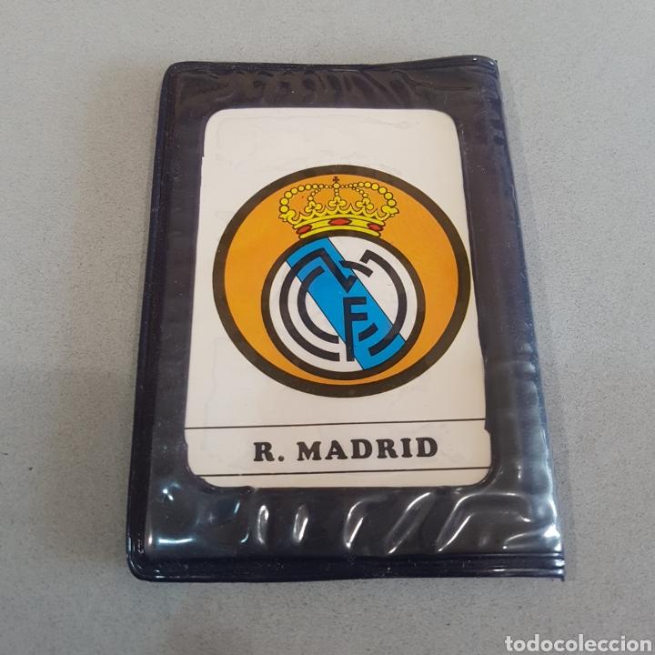 ANTIGUA CARTERA CON AGENDA ESCUDOS REAL MADRID (Coleccionismo Deportivo - Merchandising y Mascotas - Futbol)