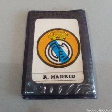 Coleccionismo deportivo: ANTIGUA CARTERA CON AGENDA ESCUDOS REAL MADRID. Lote 205564535