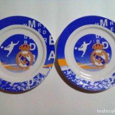 Coleccionismo deportivo: PLATOS DE PORCELANA REAL MADRID. Lote 205593600