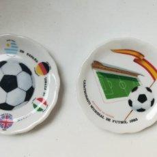 Coleccionismo deportivo: DOS CENICEROS MUNDIAL DE FÚTBOL ESPAÑA 82. Lote 207139060