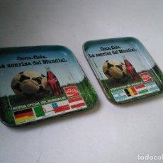 Coleccionismo deportivo: 2 POSAVASOS COCA-COLA MUNDIAL ESPAÑA 82.. Lote 207139236