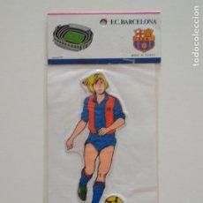 Coleccionismo deportivo: PEGATINA RELIEVE DE BERND SCHUSTER FC BARCELONA BARÇA CAMP NOU. Lote 207249787
