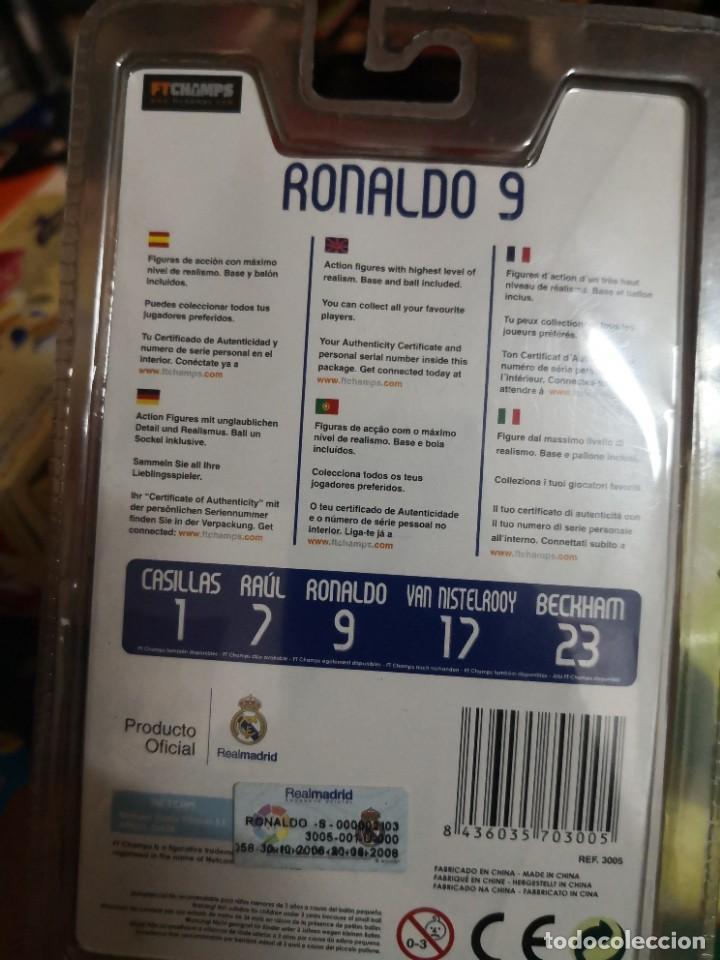 Coleccionismo deportivo: FTCHAMPS - RONALDO Nazario de Lima 9 - REAL MADRID - SERIE 4-3-3 - FIGURA DE 7.5 CM. BLISTER NUEVO! - Foto 2 - 207406430