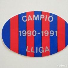 Coleccionismo deportivo: ADHESIVO PEGATINA OVALADA FC BARCELONA CAMPIÓ LLIGA 1990-1991 BARÇA. Lote 207781458