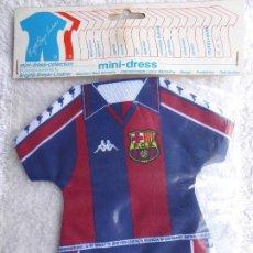 Coleccionismo deportivo: F.C. BARCELONA. MINI DRESS COLLECTION. DOS MINI CAMISETAS DEL CLUB PARA COLGAR EN EL COCHE O DECORAR. Lote 208783756