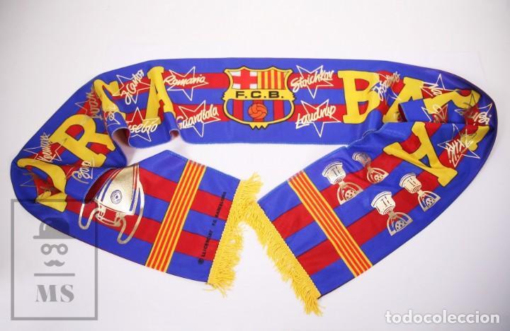 BUFANDA OFICIAL DEL FÚTBOL CLUB BARCELONA - FORÇA BARÇA / CAMPIONS LIGA AÑO 1993-1994 (Coleccionismo Deportivo - Merchandising y Mascotas - Futbol)
