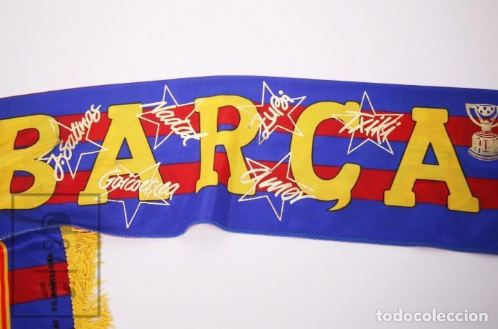 Coleccionismo deportivo: Bufanda Oficial del Fútbol Club Barcelona - Força Barça / Campions Liga Año 1993-1994 - Foto 3 - 210014836