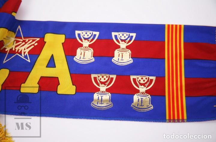 Coleccionismo deportivo: Bufanda Oficial del Fútbol Club Barcelona - Força Barça / Campions Liga Año 1993-1994 - Foto 4 - 210014836