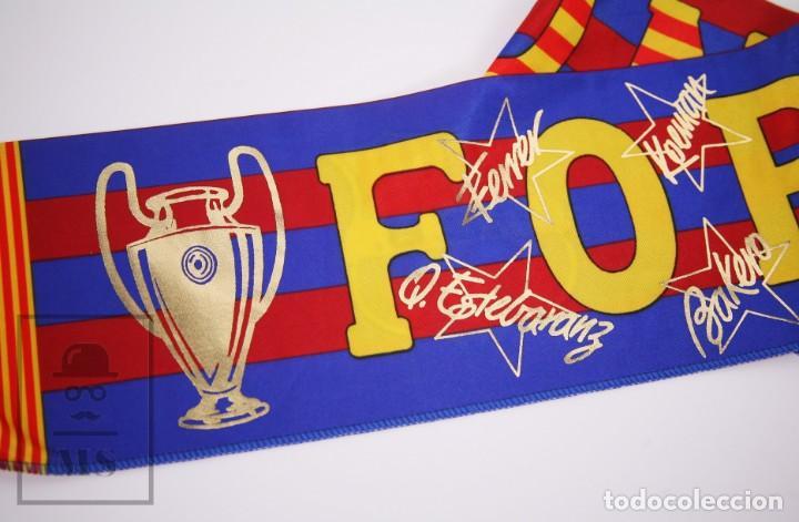Coleccionismo deportivo: Bufanda Oficial del Fútbol Club Barcelona - Força Barça / Campions Liga Año 1993-1994 - Foto 6 - 210014836