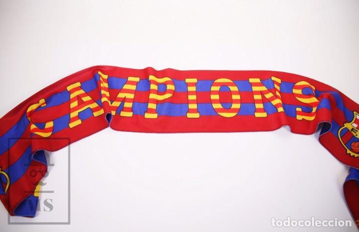 Coleccionismo deportivo: Bufanda Oficial del Fútbol Club Barcelona - Força Barça / Campions Liga Año 1993-1994 - Foto 7 - 210014836