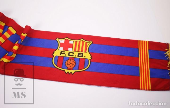 Coleccionismo deportivo: Bufanda Oficial del Fútbol Club Barcelona - Força Barça / Campions Liga Año 1993-1994 - Foto 8 - 210014836