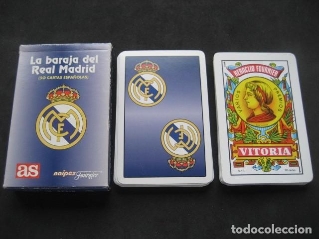BARAJA ESPAÑOLA FOURNIER. FUTBOL REAL MADRID (Coleccionismo Deportivo - Merchandising y Mascotas - Futbol)