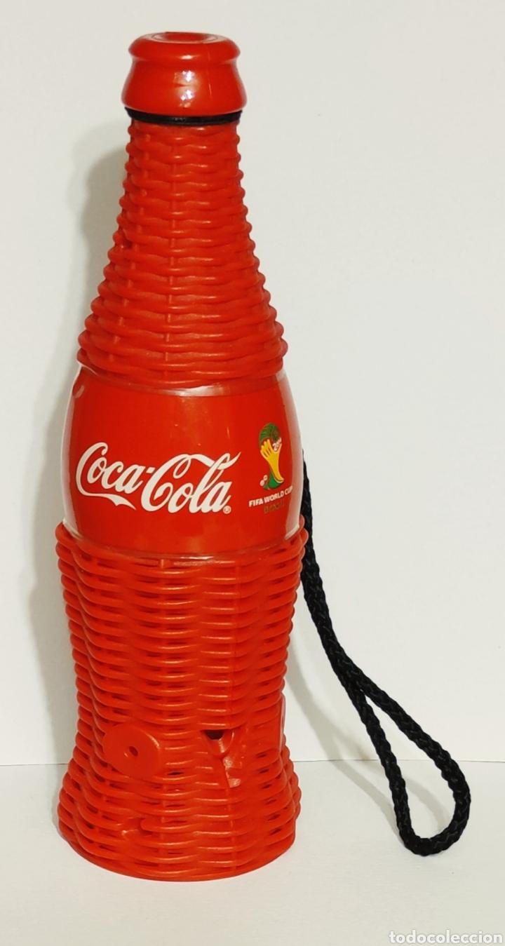 BOTELLA SILBATO COCA-COLA FIFA WORLD CUP BRASIL. COCACOLA (Coleccionismo Deportivo - Merchandising y Mascotas - Futbol)