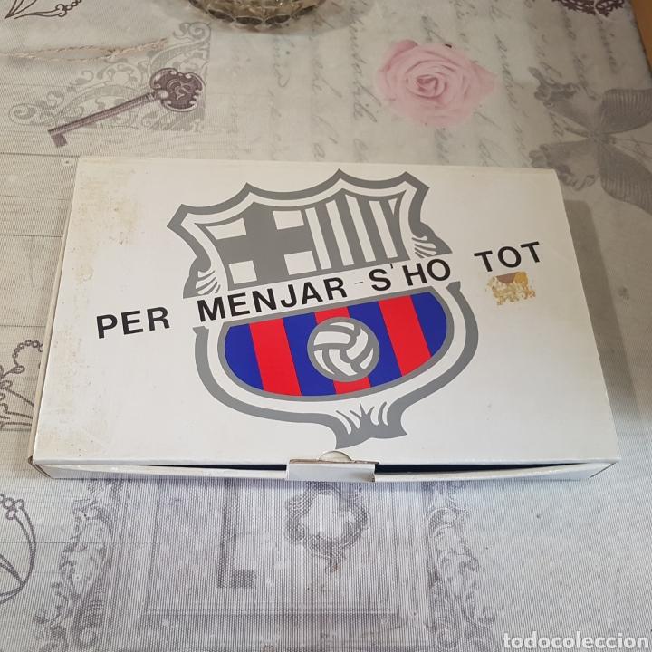 JUEGO DE CUBIERTOS F. C. BARCELONA (Coleccionismo Deportivo - Merchandising y Mascotas - Futbol)