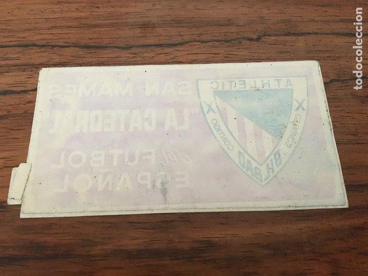 ANTIGUA PEGATINA ATHLETIC BILBAO SAN MAMES LA CATEDRAL DEL FUTBOL ESPAÑOL PEGATINA (Coleccionismo Deportivo - Merchandising y Mascotas - Futbol)