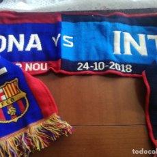 Coleccionismo deportivo: FC BARCELONA INTER MILAN CALCIO FUTBOL BUFANDA SCARF FOOTBALL. Lote 213683471
