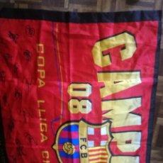 Coleccionismo deportivo: FC BARCELONA FLAG CHAMPIONS FUTBOL BUFANDA SCARF FOOTBALL. Lote 213683655