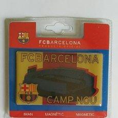 Coleccionismo deportivo: IMAN MAGNETICO FCBARCELONA CAMP NOU Y ESCUDO F.C.B. BARÇA / PRODUCTO OFICIAL. Lote 214305065