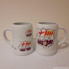 Coleccionismo deportivo: LOTE DE 2 JARRAS DEL FCB BARCELONA.. Lote 214950476