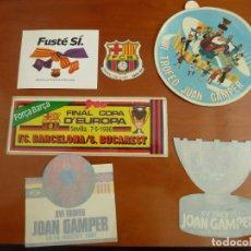 Coleccionismo deportivo: LOTE 6 ADHESIVOS PEGATINAS DEL FUTBOL CLUB BARCELONA FUTBOL JOAN GAMPER SAMPDORIA AÑOS 80. Lote 216002697