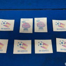 Collectionnisme sportif: LOTE DE 8 PEGATINAS ANTIGUAS DE ESPAÑA 82 Y NARANJITO.. Lote 216671591