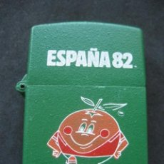 Coleccionismo deportivo: MECHERO TIPO ZIPPO. MUNDIAL DE FUTBOL ESPAÑA 1982. NARANJITO. Lote 216858916