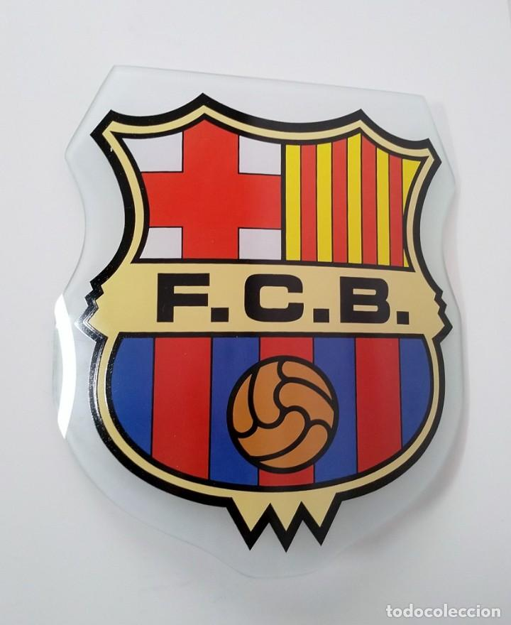 ESCUDO DEL BARCELONA FCB, EN CRISTAL CURVADO (Coleccionismo Deportivo - Merchandising y Mascotas - Futbol)
