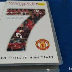 Coleccionismo deportivo: VHS ( MANCHESTER UNITED - PREMIERSHIP CHAMPIONS 2000 - 2001 ) SIETE TÍTULOS EN NUEVE AÑOS - NUEVO. Lote 217155377