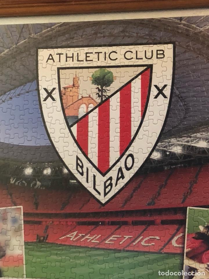 Coleccionismo deportivo: Magnifico puzzle enmarcado, atlethic de Bilbao, gran tamaño - Foto 2 - 217426232