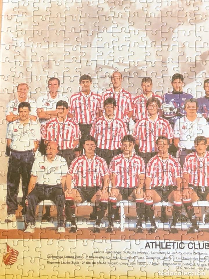 Coleccionismo deportivo: Magnifico puzzle enmarcado, atlethic de Bilbao, buen tamaño, temporada 97-98 - Foto 2 - 217426525