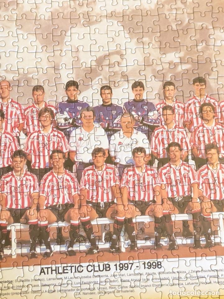 Coleccionismo deportivo: Magnifico puzzle enmarcado, atlethic de Bilbao, buen tamaño, temporada 97-98 - Foto 3 - 217426525