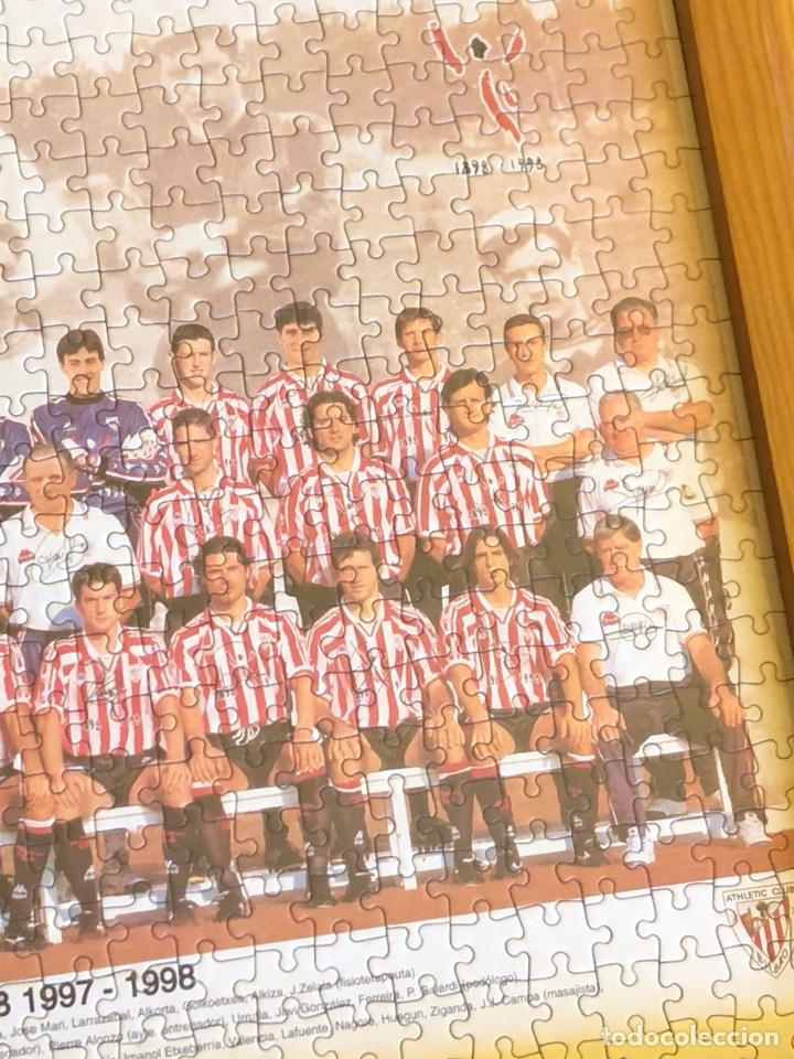 Coleccionismo deportivo: Magnifico puzzle enmarcado, atlethic de Bilbao, buen tamaño, temporada 97-98 - Foto 4 - 217426525
