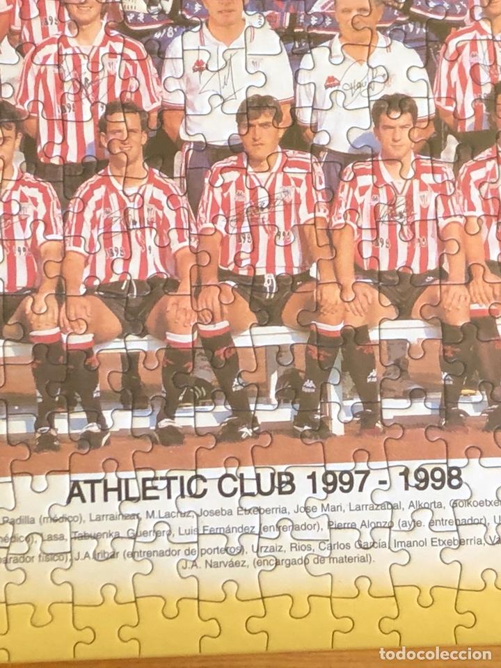 Coleccionismo deportivo: Magnifico puzzle enmarcado, atlethic de Bilbao, buen tamaño, temporada 97-98 - Foto 5 - 217426525