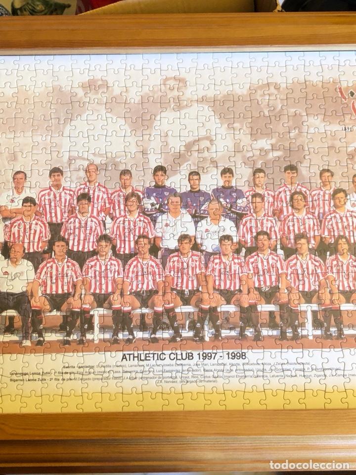 Coleccionismo deportivo: Magnifico puzzle enmarcado, atlethic de Bilbao, buen tamaño, temporada 97-98 - Foto 6 - 217426525