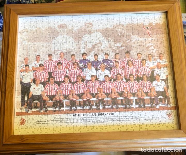 MAGNIFICO PUZZLE ENMARCADO, ATLETHIC DE BILBAO, BUEN TAMAÑO, TEMPORADA 97-98 (Coleccionismo Deportivo - Merchandising y Mascotas - Futbol)